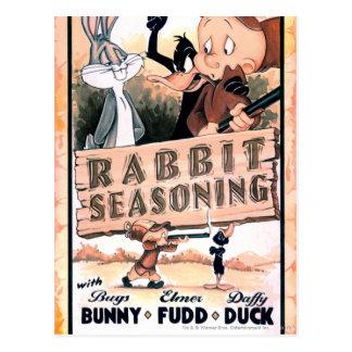 Looney Melodien-Kaninchen-Gewürz Postkarten