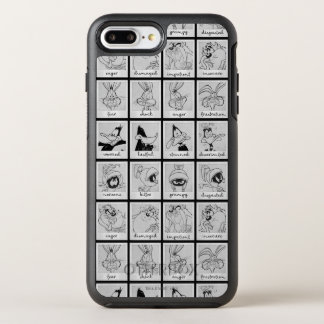 LOONEY TUNES™ Charakter-Gefühl-Diagramm OtterBox Symmetry iPhone 8 Plus/7 Plus Hülle