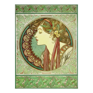 Lorbeer Vintages Nouveau GalleryHD Alphonse Mucha Poster