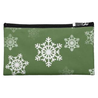 Lorbeere-grüne und weiße cosmetic bag