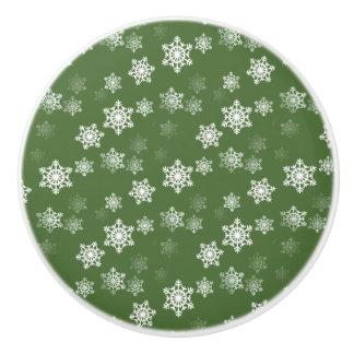 Lorbeere-grüne und weiße keramikknauf
