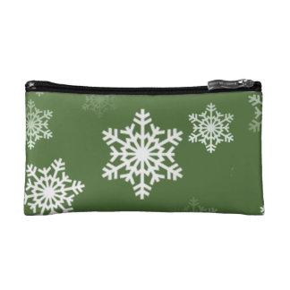 Lorbeere-grüne und weiße Makeup-Tasche