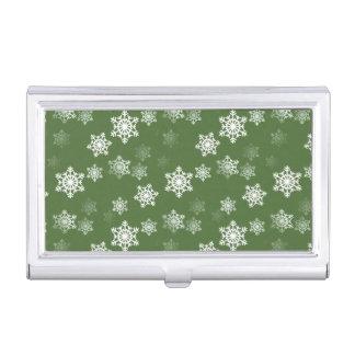 Lorbeere-grüne und weiße visitenkarten dose