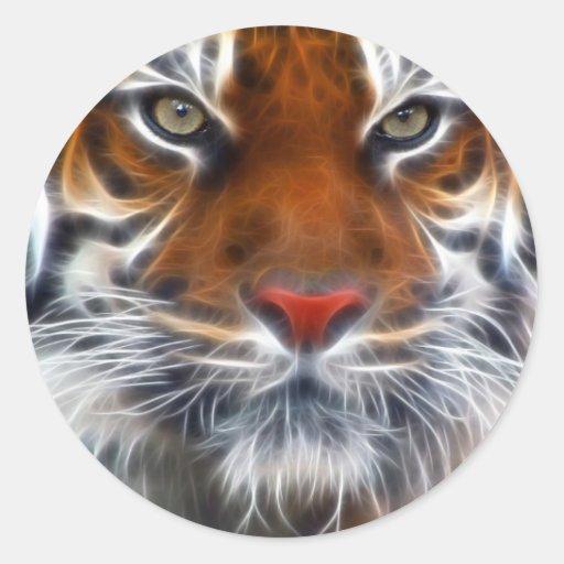 Lord der indischen Dschungel, der königliche benga Runde Aufkleber