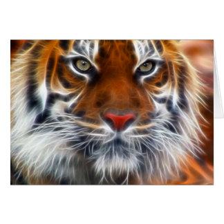 Lord der indischen Dschungel, der königliche benga Grußkarte