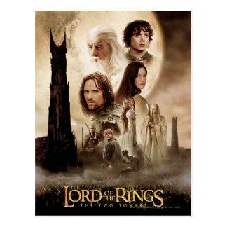 Lord der Ringe: Das zwei Turm-Film-Plakat Postkarte