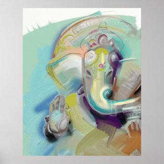 Lord Ganesh Elephant Buddha Poster