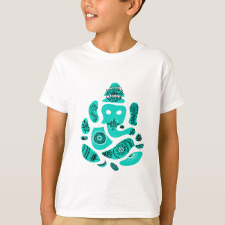 Lord Ganesh Elephant Kids' T-Shirt, weiß T-Shirt
