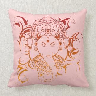 Lord Ganesha/gelb-orangees rosa Kissen