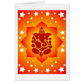 Lord Ganesha On Lotus Design Karte
