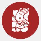 Lord Ganesha Sign Runder Aufkleber
