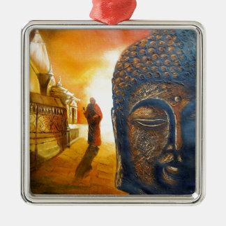 Lord Gautama Buddha Silbernes Ornament