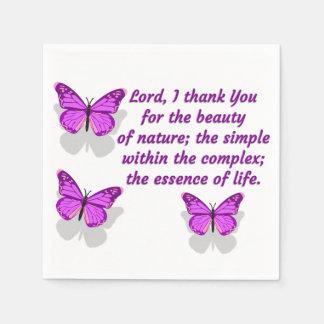 Lord I Thank You für die Schönheit Papierserviette