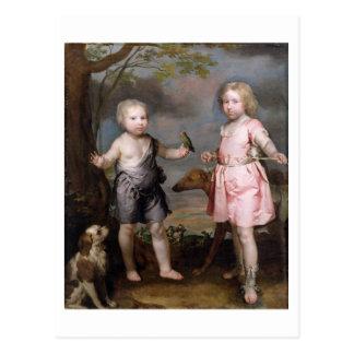 Lord John Hay und Charles, Meister von Yester Postkarte