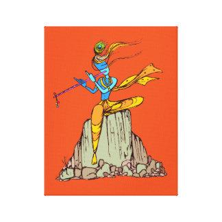 Lord Krishna mit Flöte Leinwanddruck