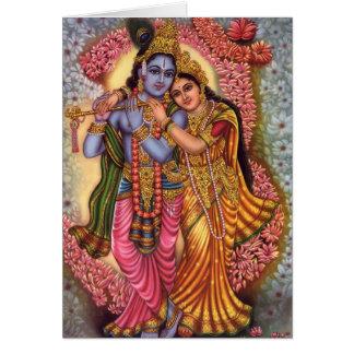 Lord Krishna u. Radha Karte