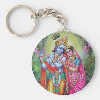 Lord Krishna u. Radha Schlüsselanhänger