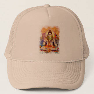 Lord Shiva Meditating Hat Truckerkappe