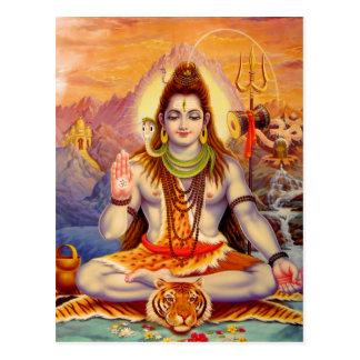Lord Shiva Meditating Postcard Postkarte