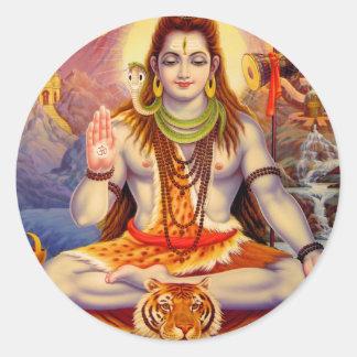 Lord Shiva Meditating Sticker