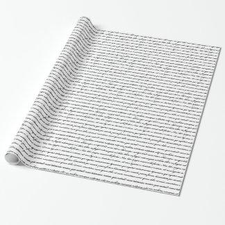 Lorem Ipsum - Weiß Geschenkpapier