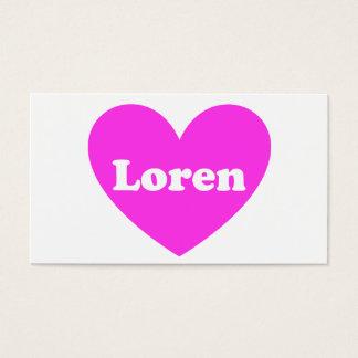 Loren Visitenkarte