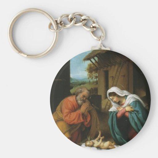 LorenzoLotto-Geburt Christi von Christus Schlüsselband