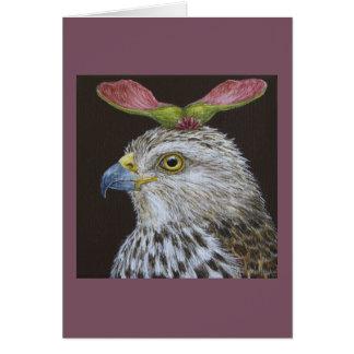 Loretta die Falke-Grußkarte des Fassbinders Grußkarte
