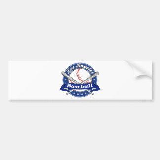 Los Angeles-Baseball Autoaufkleber