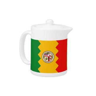Los Angeles-Flaggen-Teekanne