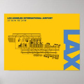 Los Angeles-Flughafen-(LOCKERES) Diagramm-Plakat Poster