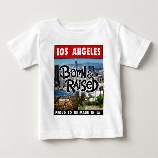 Los Angeles geboren u. angehoben Baby T-shirt