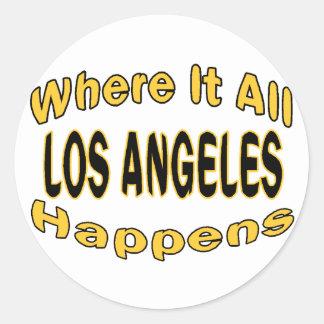 Los Angeles geschieht Runder Aufkleber