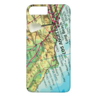 Los Angeles, Kalifornien-Karte iPhone 8 Plus/7 Plus Hülle