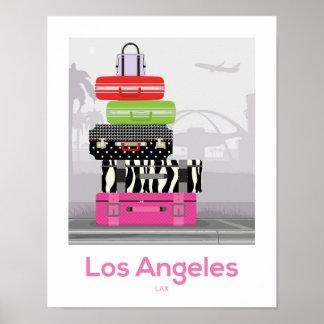 Los Angeles, Kalifornien-Kunst-Druck-Reise-Plakat Poster