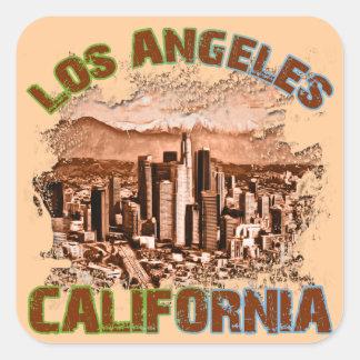 Los Angeles, Kalifornien Quadrat-Aufkleber