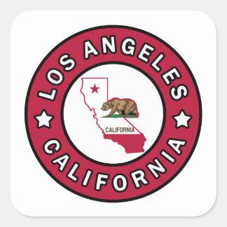 Los Angeles Kalifornien Quadratischer Aufkleber