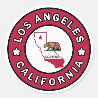 Los Angeles Kalifornien Runder Aufkleber