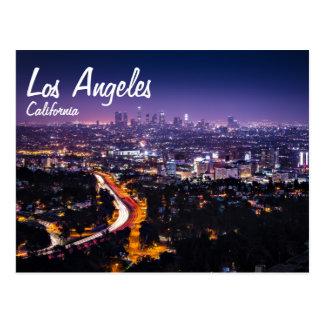 Los Angeles, Kalifornien-Skyline nachts Postkarten