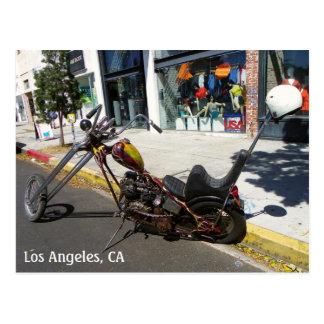 Los Angeles-Motorrad-Postkarte! Postkarten