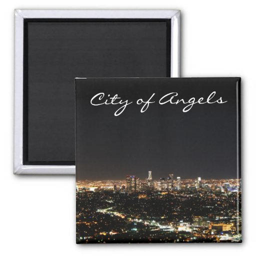 Los Angeles-Nacht Kühlschrankmagnete