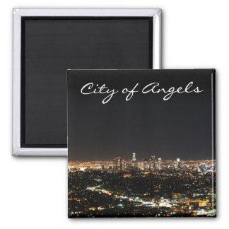Los Angeles-Nacht Quadratischer Magnet