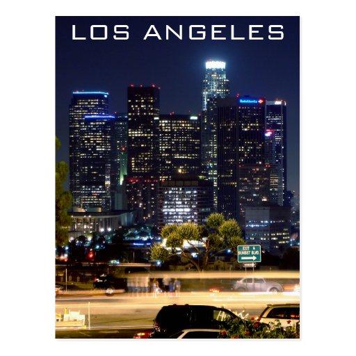 Los Angeles-Nachtpapier-Produkte Postkarte