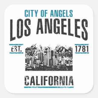 Los Angeles Quadratischer Aufkleber