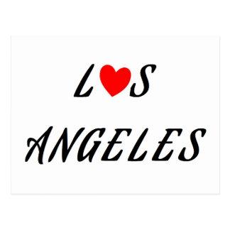 Los Angeles rotes Herz Postkarte