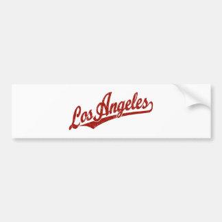 Los Angeles-Skriptlogo im Rot beunruhigt Autoaufkleber