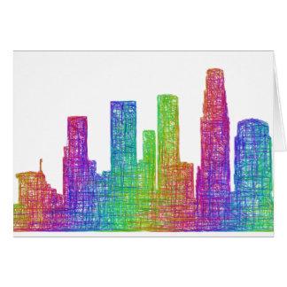Los Angeles-Skyline Grußkarte