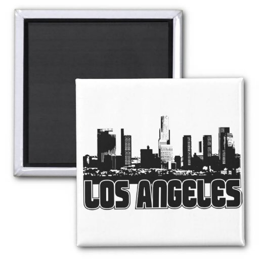 Los Angeles-Skyline Magnets