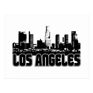 Los Angeles-Skyline Postkarte