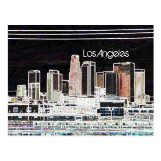 Los Angeles-Skyline-Postkarte Postkarte